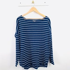 Vince Navy Stripe Cashmere Small Pullover Sweater